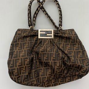 Fendi zucca shopper bag